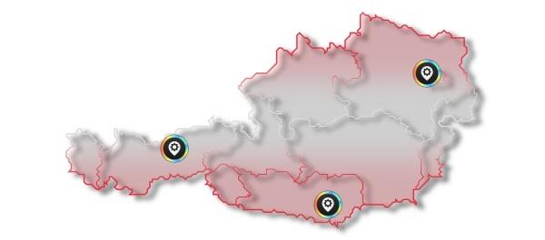 Karte Team Oesterreich mit Partner